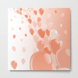 Two Tone Baloons Metal Print