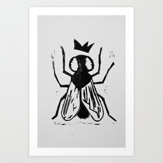 Fly Linocut Art Print
