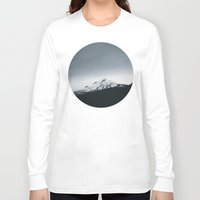 oregon Long Sleeve T-shirts featuring Mt. Hood x Oregon by Leah Flores