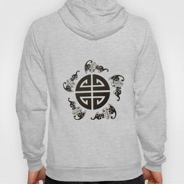 Chinese 5 blessings symbol Hoody