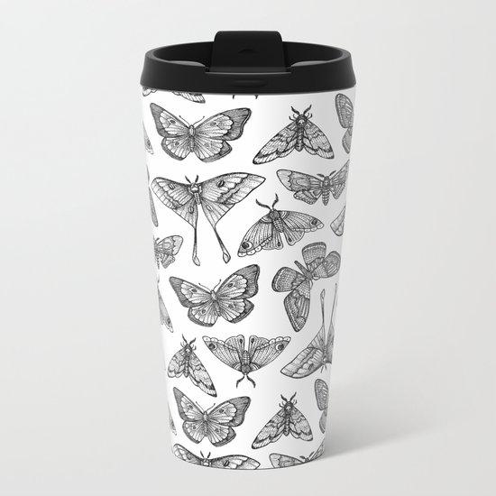 Lepidoptera Metal Travel Mug