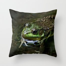 Frog Floating Throw Pillow