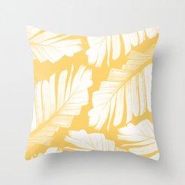 Yellow Banana Leaves Dream #1 #tropical #decor #art #society6 Throw Pillow