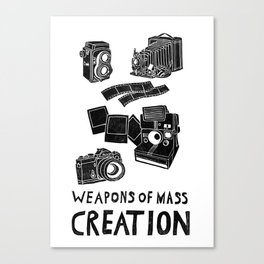 Weapons Of Mass Creation - Photography (clean) Canvas Print