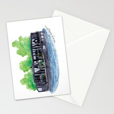 Water Living in Amsterdam by Charlotte Vallance Stationery Cards