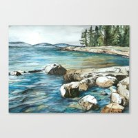 maine Canvas Prints featuring Maine by Micaela Payne
