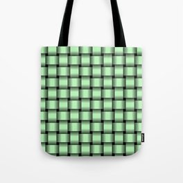 Small Light Green Weave Tote Bag