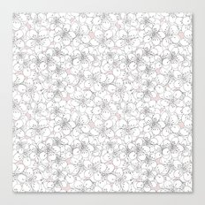 Cherry Blossom Pink Blocks Canvas Print