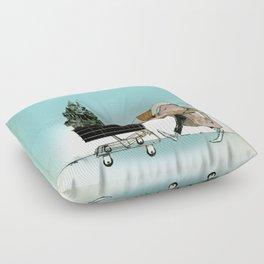 "Glue Network Print Series ""Homelessness"" Floor Pillow"