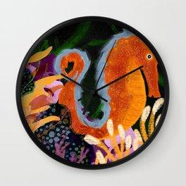 Swimming Seahorse Wall Clock