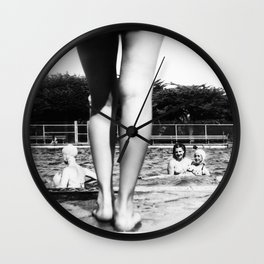 A Day At The Pool Wall Clock
