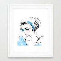 cinderella Framed Art Prints featuring Cinderella  by emametlo
