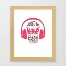 Kpop Quotes T Shirt Bubble Tea Boba Framed Art Print
