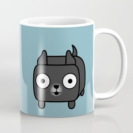 Pitbull Loaf - Black Pit Bull with Cropped Ears Coffee Mug
