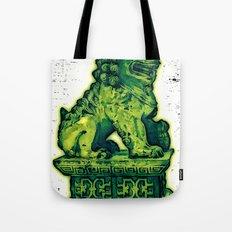 Jade Lion Tote Bag