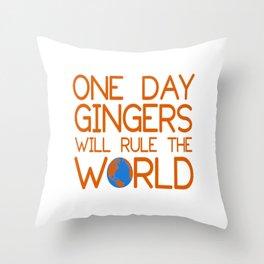 gingers world Throw Pillow