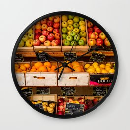 Groceries, Nice France Wall Clock