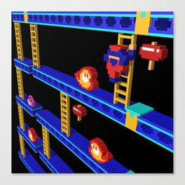 Inside Donkey Kong stage 4 Canvas Print