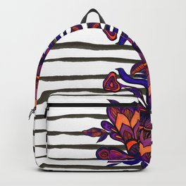 Purple Flower Backpack