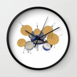 Blue Drum Kit Wall Clock