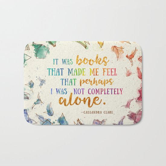It was books Bath Mat