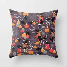 Enchanted Vintage Halloween Spell Throw Pillow