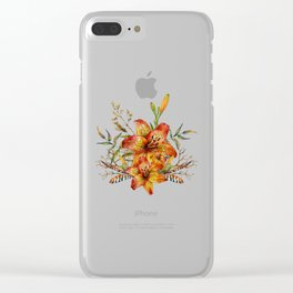 Tiger Lily Bouquet v2 Clear iPhone Case