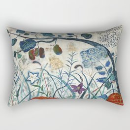 nature【Japanese painting】 Rectangular Pillow