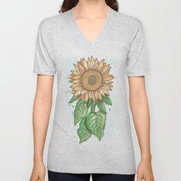 Cheerful Sunflower Unisex V-Neck