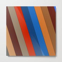 Natural Stripes Metal Print