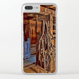 Draft Horse Harness Clear iPhone Case