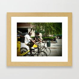 Pedicab Driver Framed Art Print