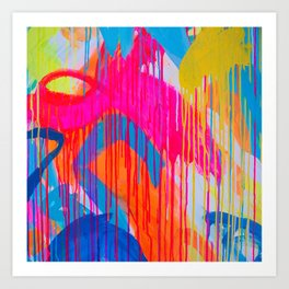 Freedom of colours no.4 Art Print