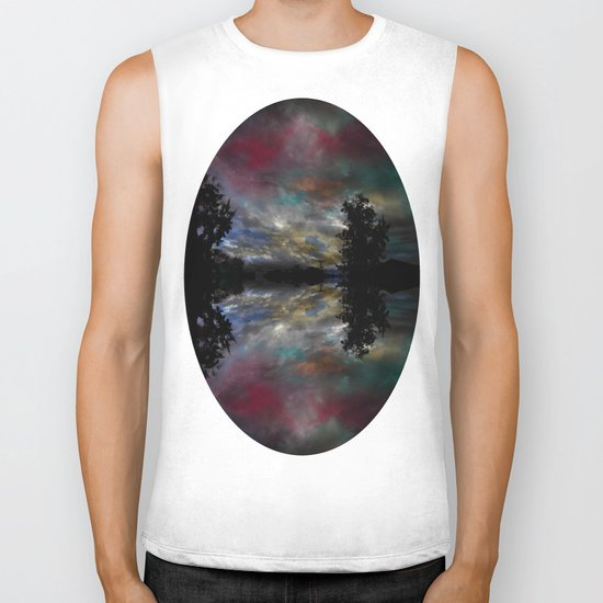 Here and There Biker Tank