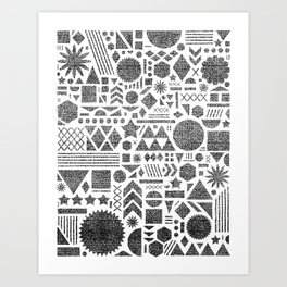 Modern Elements with Black. Art Print