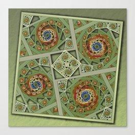 Squared Spirals 150513-012 Canvas Print