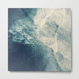 Ice Blue Surf Metal Print