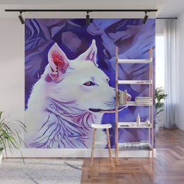 The White German Shepherd Wall Mural