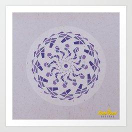 Third-Eye Chakra Mandala Art Print