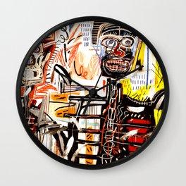 Jean-Michel Basquiat - Philistines 1982 Wall Clock