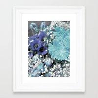 blues Framed Art Prints featuring Blues by Joke Vermeer