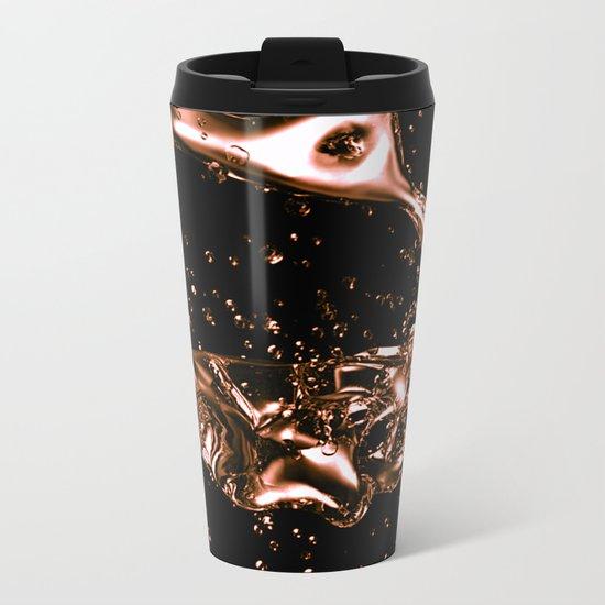 Melted Copper Design Metal Travel Mug