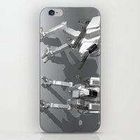 robots iPhone & iPod Skins featuring Robots by Carlo Toffolo