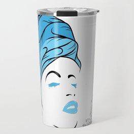 Lady Wrap (blue) Travel Mug