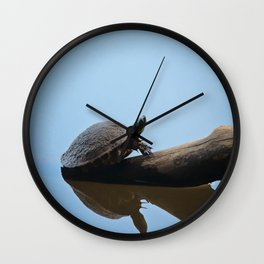 Turtle on The Lake (Color) Wall Clock