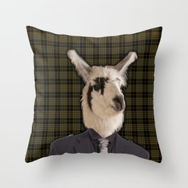 Lord Llama Throw Pillow
