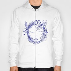 Floral face Hoody