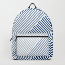 Shades of Blue Abstract geometric pattern Backpack