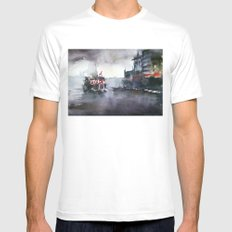 ISTANBUL White Mens Fitted Tee MEDIUM