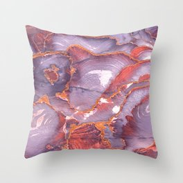 Colorful sandstone in Petra, Jordan (Picture 6) Throw Pillow